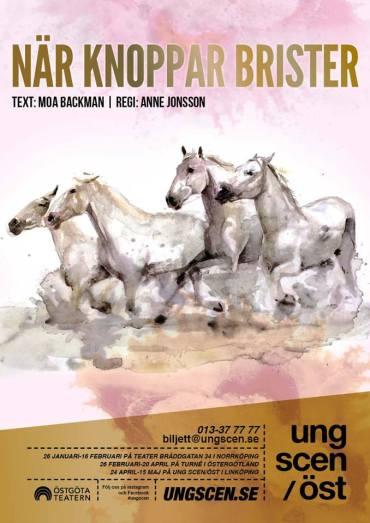 NÄR KNOPPAR BRISTER, Ung Scen/Öst, 2018